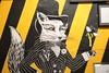 Fox (davetowersphotos) Tags: hazard lines linescurves manchesterbees black yellow graffiti streetart art fox