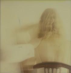 Une caresse de ta main  (A touch of your hand) (l'imagerie poétique) Tags: limageriepoétique poeticimagery roidweek polaroidsx70 motionblurfilter ghost fantôme