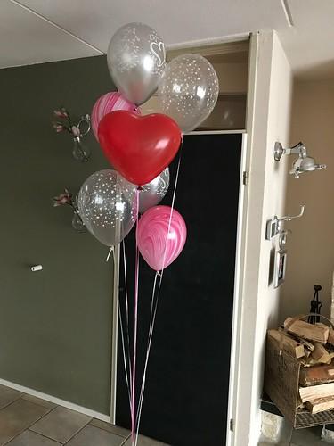 Tafeldecoratie 7ballonnen Gronddecoratie