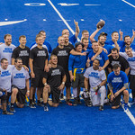 "<b>Alumni Flag Football Game</b><br/> Luther alumni played a friendly football match on the homecoming 2017 saturtday the 7th of october. The Alumni tested the new blue turf of the Legacy Field for the first time! Photo by Hasan Essam Muhammad<a href=""//farm5.static.flickr.com/4498/37072063083_c276394c55_o.jpg"" title=""High res"">∝</a>"