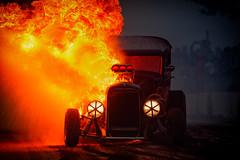 Burn baby burn (Subdive) Tags: burnout car hälla smoke summermeet sweden västerås västeråssummermeet2017 fire hotrod