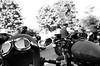 Seeing Them Pass on By (Georgie_grrl) Tags: distinguishedgentlemansride2017 charityride motorcycles blackandwhite monochrome pentaxk1000 rikenon12828mm toronto ontario