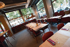 _DSC2107 (fdpdesign) Tags: pizzamaria pizzeria genova viacecchi foce italia italy design nikon d800 d200 furniture shopdesign industrial lampade arredo arredamento legno ferro abete tavoli sedie locali