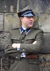 NYMR 1940's Weekend (2017) 038 (Row 17) Tags: england yorkshire pickering northyorkmoorsrailway uniform uniforms polish army people man men nikon candid portrait 1940s reenactment reenactor reenactors