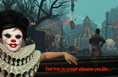 Waiting for YOU (Renascentia11) Tags: freak freakshow light lights freaks wild circus scary creepy wow amazing halloween sl second life secondlife ahs horror haunt haunting adult