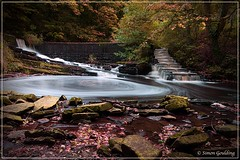 Waterfalls in Autumn. (sy goulding) Tags: waterfalls canon1300d longexposure yarrowvalleypark coppull lancashire chorley landscapes amateurphotography woodland uk england northwest water runningwater rocks canon1018mm canon1855mm ndfilter