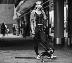 Fifi and I (zilverbat.) Tags: denhaag streetphotography straatfotografie streetcandid straatfotograaf streetshot bild zilverbat blackandwhite image innercity people portrait streetscene scenery streetlife straatportret urban urbanvibes dog bokeh blackwhitephotos dutch dof dramatic thehague thenetherlands timelife town centrum centraal centraalstation stedelijk station portret peopleinthecity street girl peopleofthehague zwartwit zwartwitfotografie monochrome mono noir blackwhite black nike sport fifi pet mobile iphone ears fashion cool mode