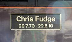 Chris Fudge nameplate (davids pix) Tags: class 47 47746 preserved diesel locomotive chris fudge west coast railways littlehampton railtour bognor belle 2017 21102017