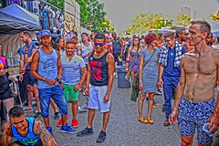 Halsted Street Market Days (tacosnachosburritos) Tags: halsted street market days photography thestreets chicago windy city urban gritty people humanity gay lgbqt boystown neighborhood festival pride man guy boy girl woman chick lady summer hot beautiful lovely gorgeous revelers party fun topless