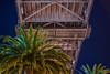 sunroof ll (pbo31) Tags: bayarea california nikon d810 color evening dark october fall 2017 boury pbo31 sanfrancisco city bridge embarcadero baybridge palm under 80 steel night