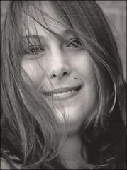 (Cliff Michaels) Tags: nikon photoshop pse9 face woman headshort portrait monochrome pretty