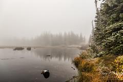 Foggy Rocky Mountain Lake