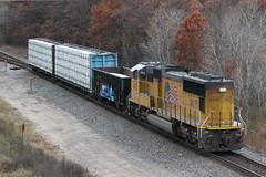 A UP 70M on a CN local? (MrLuebeck) Tags: up4472 cn l561 lhf longhoodforward upsd70m cnlocal amherst stockton neenahsub