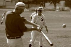 Vintage Baseball, Cantigny Park. 28 (EOS) (Mega-Magpie) Tags: canon eos 60d vintage baseball 1858 rules cantigny park wheaton il dupage illinois usa america sepia players team people person guy man dude fella outdoors sports