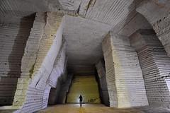 """Courtois Augustin"" (flallier) Tags: carrière souterraine craie underground chalk quarry augustin courtois 1869 silhouette"