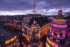 L'hiver au Printemps (Monsieur Z) Tags: paris printemps lafayette winter ville rooftop street terrasse panoramique vue haussmann france toits