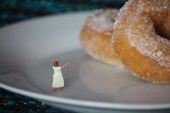 Take me to the doughnuts (amanda_shirlow) Tags: macro miniature mini micro miniatureworld microworlds microscopic littlepeople lilliput little small scale tinypeople hoscale humour doughnuts food preiser photography puns