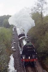 S15 828 on Chandlers Ford Line, 9 Oct 1993 (Ian D Nolan) Tags: railway railtour chandlersfordstation s15 828 lswr sr 35mm epsonperfectionv750scanner
