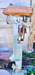 Tune-up Time (Neal3K) Tags: vintage outboardmotor henrycountyga georgia rust
