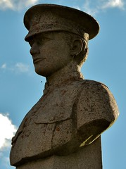 Bust of WWI soldier (Will S.) Tags: mypics springbrook ontario canada warmemorial inmemoriam guns bust