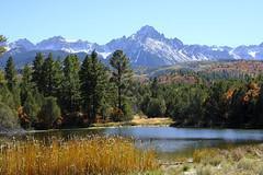 Mount Sneffles (Chuckcars) Tags: montrose colorado usa october autumn harvest moon dawn morning sky cold tree