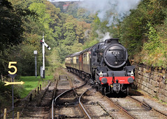 45212 LMS Stanier Class 5MT 4-6-0 (Keith B Pics) Tags: northyorkshiremoorsrailway keithbpics nymr goathland black5 stanier 460 classfive 45212