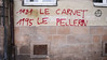 "#Manif10octobre #Nantes #GameOfTags: ""1981 LE CARNET - 1995 LE PELLERIN"" (ValK.) Tags: gameoftags loitravailxxl pjlterrorisme loitravail cabanedupeuple etatdurgencepermanant maisondupeuple nantes politique valk demonstration fonctionpublique graff graffiti greve intersyndicale manifestationunitaire social tag france fr"