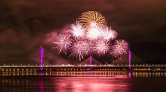 Mersey Gateway (Steve Samosa Photography) Tags: merseygateway fireworks widnes england unitedkingdom gb runcorn