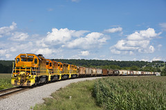 GW1 - Mt. Morris (ConnorShortPhotography) Tags: gw genesee mount morris gw1 salt train american original shortline railroad local sun outside rail corn rochester southern rr csx new york ny