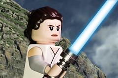 Rey - The Last Jedi trailer (Jezbags) Tags: lego legos toy toys macro macrophotography macrodreams macrolego canon60d canon 60d 100mm closeup upclose starwars legostarwars rey lightsaber jedi