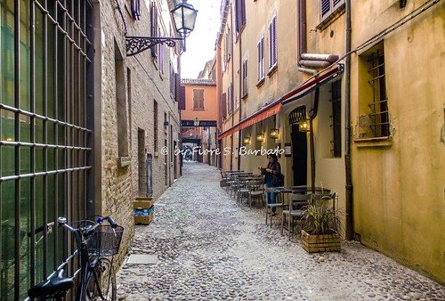 Ferrara (FE), 2017, Via delle Volte e antico quartiere ebraico.