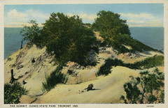 The Summit, Dunes State Park, 1931 - Chesterton, Indiana (Shook Photos) Tags: postcard postcards dune dunes indianadunesstatepark chestertonindiana tremontindiana chesterton tremont indiana portercounty lakemichigan shore shoreline sand beach