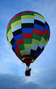 Early morning flight (Wilamoyo) Tags: balloonmorning hotairballoons up basket sky blue clouds colors colours flight morning air sol isolation dream patchwork blocks wave man leisure recreation transport