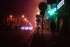 The Shape (ewitsoe) Tags: moody movie film center man walking theshape myers halloweeninspired johncarpenter poznan poland cityscape street city eerie moodyatmosphere colors neon night nikond80 35mm sidewalk manwalkinginfog neonlightssign cinema poalnd silhouette