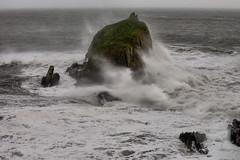 Woosh (againandagain251) Tags: storm headland saundersfoot tenby southpembrokeshire wales monkstonepoint stormophelia whitewater coastalerosion seafoam rockycoastline greyseas seaspray seascape