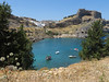 Lindos Bay (Toni Kaarttinen) Tags: greece griechenland grecia grèce grécia ελλάδα elláda ἑλλάσ hellás rhodes rodos rhodos rodi rodes rodas ρόδοσ ródos dodecanese island greek rhodescity city holiday vacation summer summerholiday roadtrip rental rentalcar lindos castle ruins bay boats