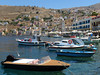 Symi Town | Harbor (Toni Kaarttinen) Tags: greece griechenland grecia grèce grécia ελλάδα elláda ἑλλάσ hellás dodecanese island greek city holiday vacation summer summerholiday symi syme simi σύμη excursion boattrip daytrip sea adrian architecture beautiful boat fishing fishingboat