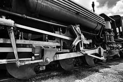 If The Shoe Fits (CDeahr23) Tags: durangoandsilvertonnarrowguage steamtrain silvertonco colorado locomotive k36 baldwink36 baldwinlocomotiveworks blackandwhite