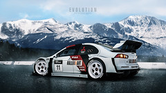 Evolution (Nux Creative Works) Tags: mitsubishi evolution x gtsport widebody pikes peak hillclimb racecar ralliart volkracing snow chilly