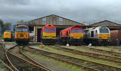 DB  Knottingley TMD (dgh2222) Tags: knottingley depot class 55 d9009 56 56303 60 60015 66 66082 67 67029