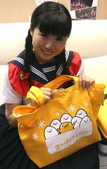 Trick Or Treat For (emotiroi auranaut) Tags: girl woman lady cute adorable pretty halloween jpop singer uniform egg bag gudetama pigtails hair face smile smiling japan japanese asia asian mischief mischievous