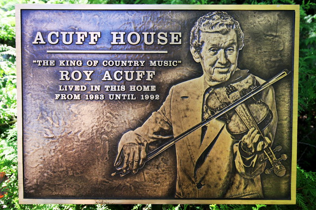 Roy Acuff's Opryland House Plaque