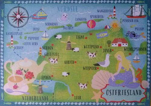 Map of Ostfriesland