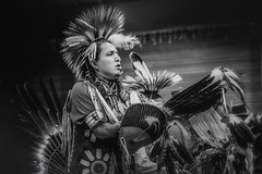 Standing Proud (gks18) Tags: people bw blackandwhite portrait canon lightroom nik dancer powwow noiretblanc vancouver
