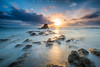 Amanecer (www.studio360fotografia.es) Tags: puntacarnero nikon d700 nikkor 1835g beach mar sea dawn amanecer sun sol nubes rocas rocks