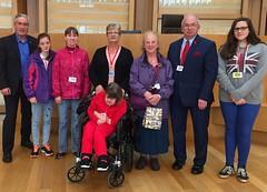 Hosting visitors from Dunbar Baptist Church at Holyrood