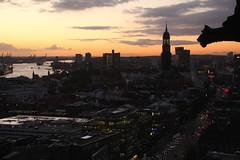 H a m b u r g (Elbmaedchen) Tags: hamburg city hamburgerhafen stnikolaikirche sonnenuntergang elbe michel willybrandtstrase goldenestunde