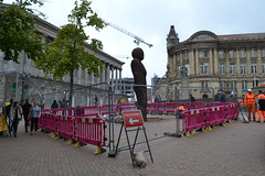 Iron Man Removal (Will Swain) Tags: 29th august 2017 iron man removal victoria square birmingham city centre statue