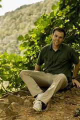 joe on cliff (Joey Howell) Tags: ga joey howell art anomaly goods co taylor kallnischkies at trail mountains tree cliff