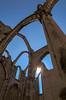 "the interlocking arches of the ancient ruined Convento da Ordem do Carmo, pierced by hot autumn sun against blue skies, Lisbon, Portugal (grumpybaldprof) Tags: ""conventofourladyofmountcarmel"" ""conventodaordemdocarmo"" ""romancatholic"" convent ruins 1393 earthquake church religious order christianity lisbon lisboa portugal portuguese city colour blue skies sun ancient arches stone ""canonpowershotg1xmarkii"" canon powershot g1xmkii ""125625mm"""